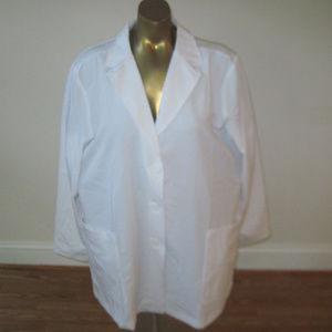 NWT HEALING HANDS PURPLE LABEL White Lab Jacket 3X